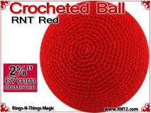 RNT Red Crochet Ball | 2 5/8 Inch (67mm)