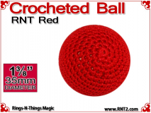 RNT Red Crochet Ball | 1 3/8 Inch (35mm)