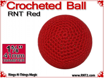 RNT Red Crochet Ball | 1 5/8 Inch (41mm)