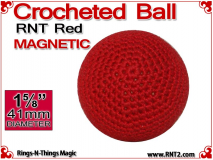 RNT Red Crochet Ball | 1 5/8 Inch (41mm) | Magnetic