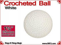 White Crochet Ball | 1 3/8 Inch (35mm)
