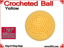 Yellow Crochet Ball | 1 3/8 Inch (35mm)