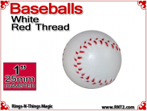 White Leather Baseball | 1 Inch (25mm) by Leo Smetsers