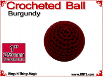 Burgundy Crochet Ball | 1 Inch (25mm)