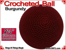 Burgundy Crochet Ball | 2 3/8 Inch (60mm)