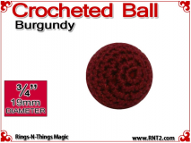 Burgundy Crochet Ball | 3/4 Inch (19mm)
