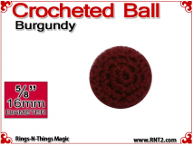 Burgundy Crochet Ball | 5/8 Inch (16mm)