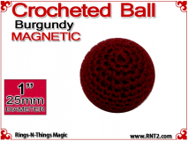 Burgundy Crochet Ball | 1 Inch (25mm) Magnetic
