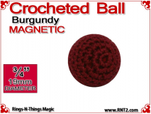 Burgundy Crochet Ball | 3/4 Inch (19mm) | Magnetic