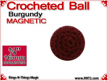 Burgundy Crochet Ball | 5/8 Inch (16mm) | Magnetic