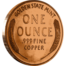 Copper Lincoln Wheat Penny - 39mm - reverse