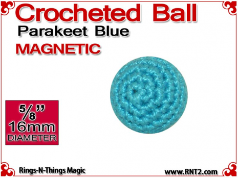 Parakeet Blue Crochet Ball | 5/8 Inch (16mm) | Magnetic