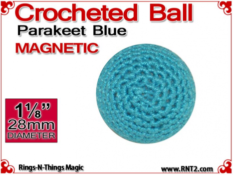 Parakeet Blue Crochet Ball | 1 1/8 Inch (28mm) | Magnetic
