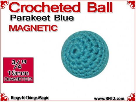 Parakeet Blue Crochet Ball | 3/4 Inch (19mm) | Magnetic