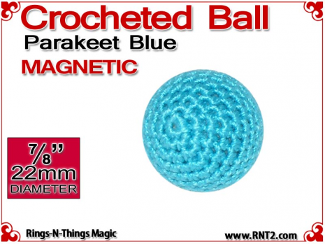 Parakeet Blue Crochet Ball | 7/8 Inch (22mm) | Magnetic