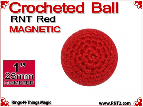 RNT Red Crochet Ball | 1 Inch (25mm) | Magnetic