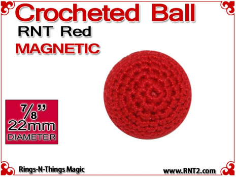 RNT Red Crochet Ball | 7/8 Inch (22mm) | Magnetic