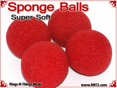 2 Inch Super Soft Sponge Balls - Red