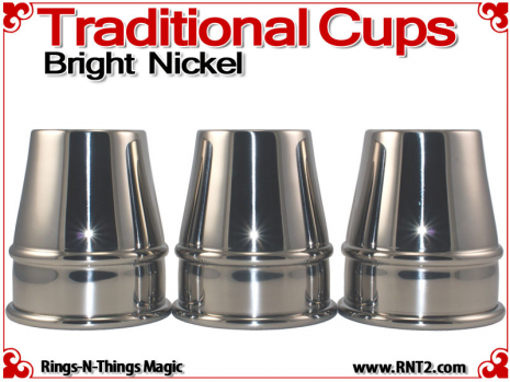 Traditional Tapered Cups | Copper | Bright Nickel 2
