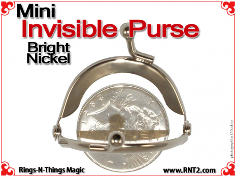 Mini Invisible Purse | Bright Nickel 3