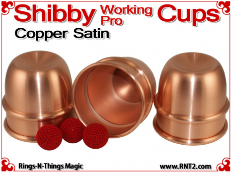 Shibby Working Pro Cups | Copper | Satin Finish 3