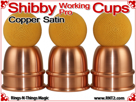 Shibby Working Pro Cups   Copper   Satin Finish 4