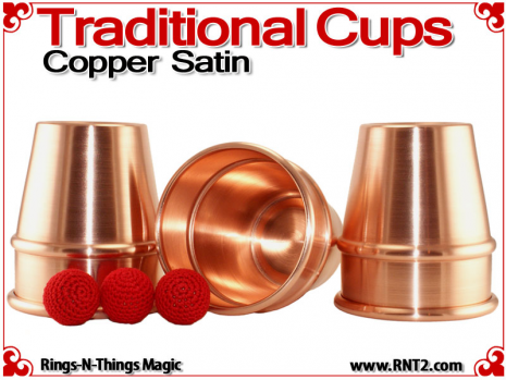 Traditional Tapered Cups | Copper | Satin Finish 3