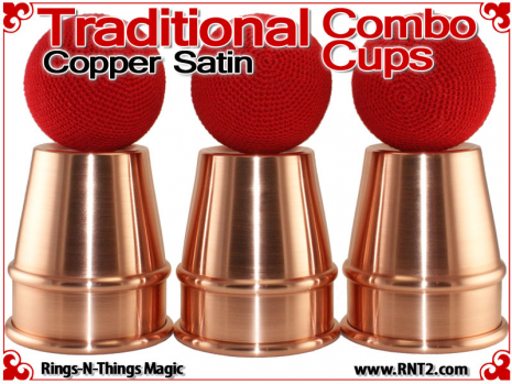 Traditional Tapered Combo Cups | Copper | Satin Finish 4
