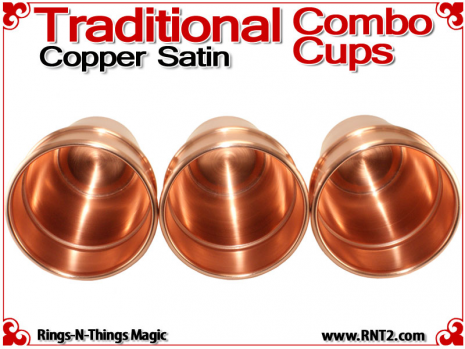 Traditional Tapered Combo Cups | Copper | Satin Finish 5