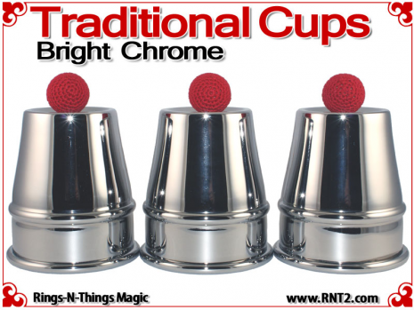 Traditional Tapered Cups | Copper | Bright Chrome 1