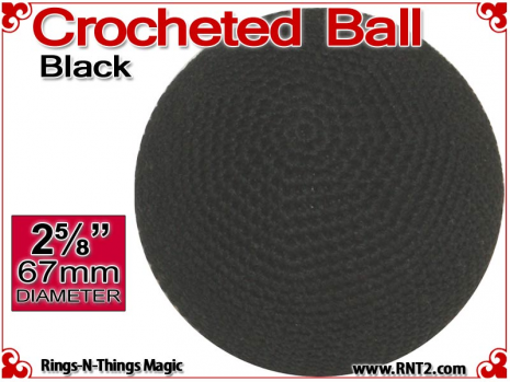 Black Crochet Ball | 2 5/8 Inch (67mm)