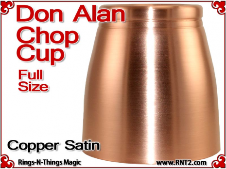 Don Alan Full Size Chop Cup | Copper | Satin Finish 5
