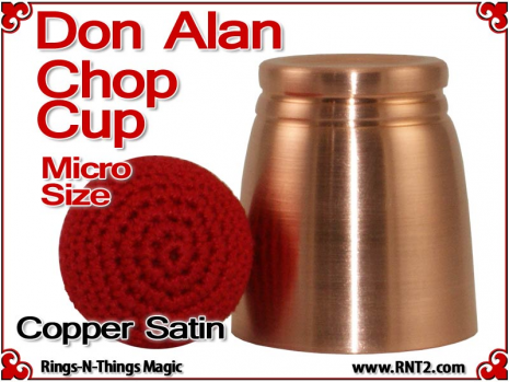 Don Alan Petite Chop Cup | Copper | Satin Finish 2