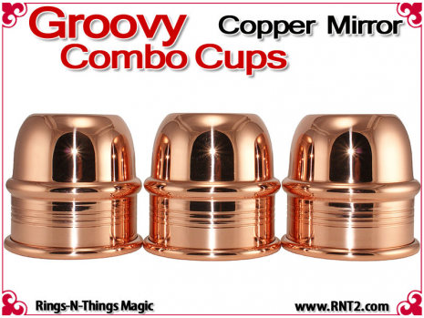 Groovy Combo Cups | Copper | Mirror Finish 2