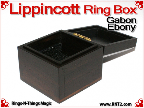 Lippincott Ring Box | Gabon Ebony 3