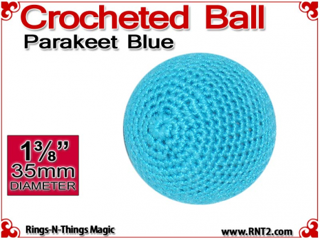 Parakeet Blue Crochet Ball | 1 3/8 Inch