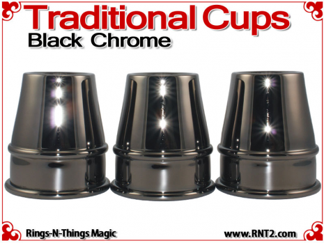 Traditional Tapered Cups | Copper | Black Chrome 2
