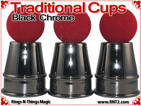Traditional Tapered Cups | Copper | Black Chrome 3