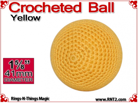 Yellow Crochet Ball | 1 5/8 Inch (41mm)
