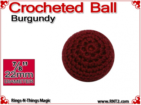 Burgundy Crochet Ball | 7/8 Inch (22mm)