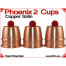 Phoenix 2 Cups | Copper | Satin Finish 1