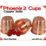 Phoenix 2 Cups | Copper | Satin Finish 3