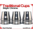 Traditional Tapered Cups | Copper | Bright Chrome 2
