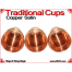 Traditional Tapered Cups | Copper | Satin Finish 5
