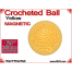 Yellow Crochet Ball | 1 3/8 Inch (35mm) | Magnetic
