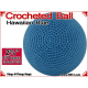 Hawaiian Blue Crochet Ball | 2 5/8 Inch (67mm)