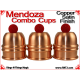 Mendoza Combo Cups | Copper | Satin Finish