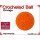 Orange Crochet Ball | 1 3/8 Inch (35mm)