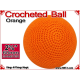 Orange Crochet Ball | 2 3/8 Inch  (60mm)
