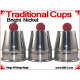 Traditional Tapered Cups | Copper | Bright Nickel
